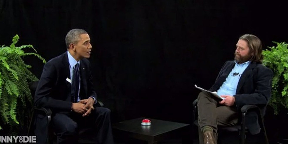 Watch President Obama School Zach Galifianakis
