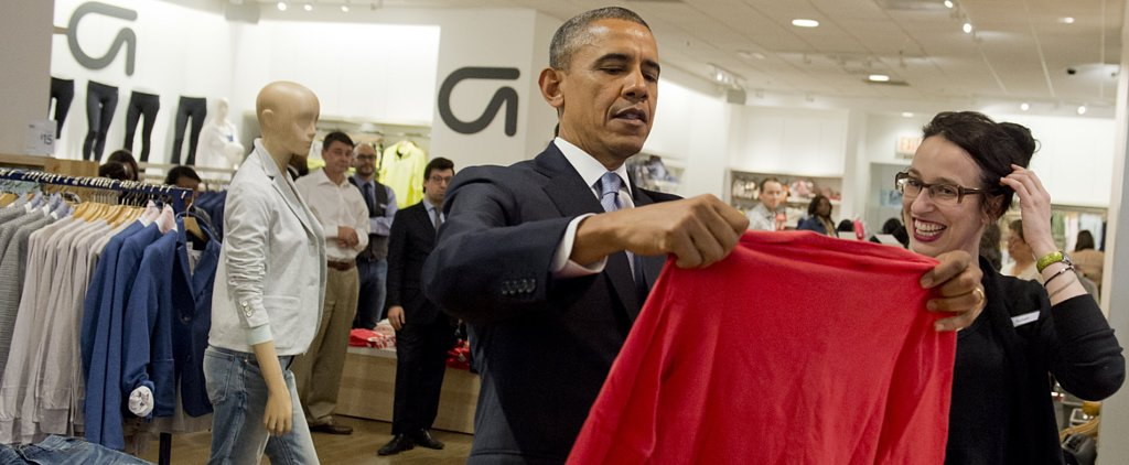 President Obama Indulged in Some Retail Therapy Yesterday!