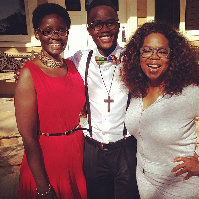 Oprah had lunch with Lupita Nyong'o's brother and mom. No big deal.  Source: Instagram user oprah