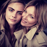 Which Supermodel Is Cara Delevingne Posing With For Burberry?
