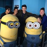 """Chillin with the minions,"" James Franco wrote of the Despicable Me fan favorites. Too cute. Source: Instagram user jamesfrancotv"