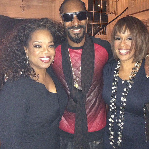 He hangs out with Oprah and Gayle.