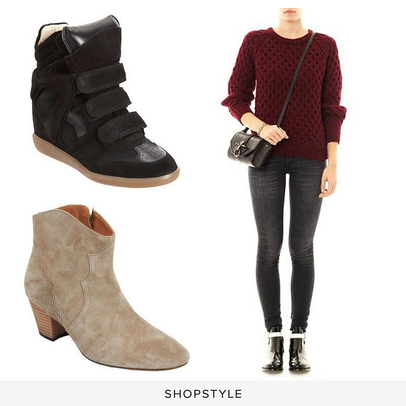 Isabel Marant Bekett ($695), Isabel Marant Dicker ($650), Isabel Marant Noreen Textured-Knit Sweater ($390)