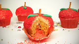 Pop Rocks-Filled Apple Cupcakes