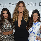 Kim Kardashian in Silver Crop Top at Dash Miami