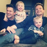 Neil Patrick Harris and David Burtka celebrated their whole family being together again — with twins Harper and Gideon — in NYC. Source: Instagram user instagranph
