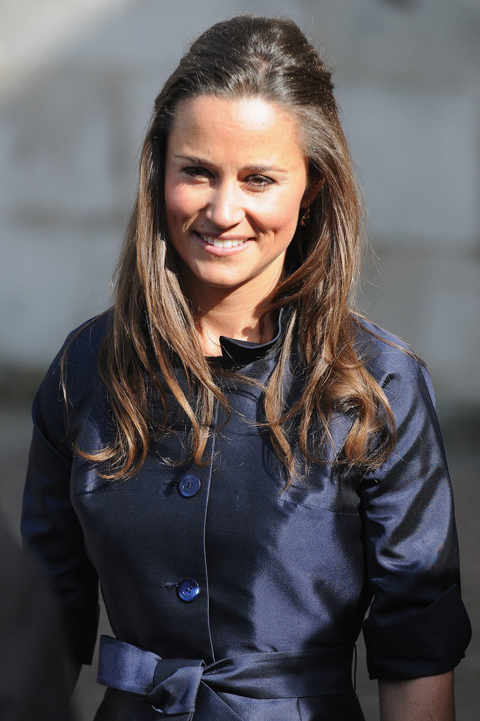 Pippa Middleton smiled outside Westminster Abbey.