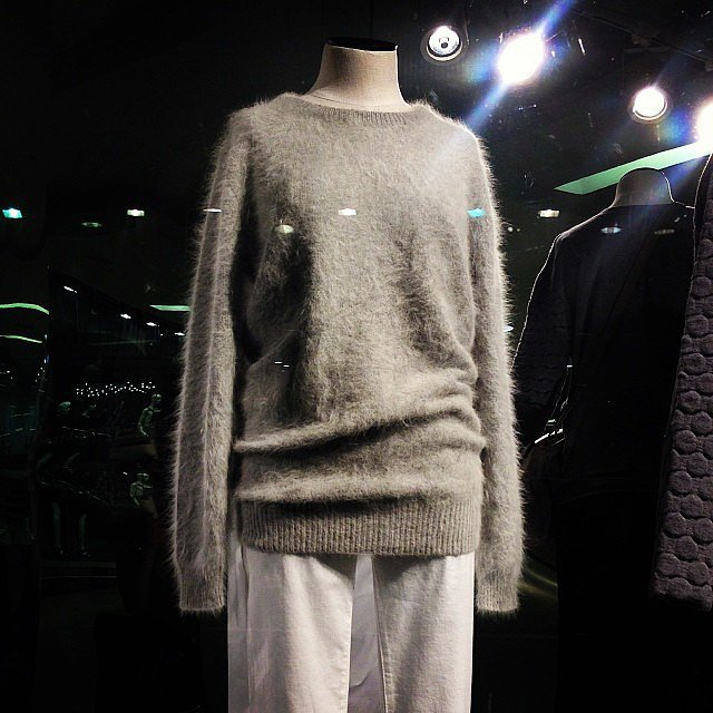 Fluffy grey knit, be ours! This Saba number is high up on our wish list.