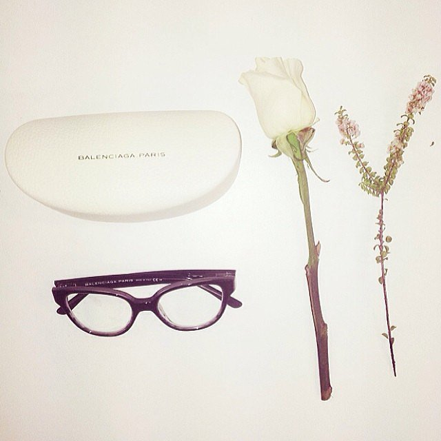 You'll find these Balenciaga specs on our fashion editor Jasmine from now on — this is her first pair of glasses ever, and they're a winning set!