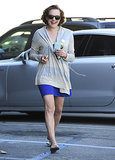 Elisabeth Moss flashed a huge smile on Thursday when she ran errands in West Hollywood.