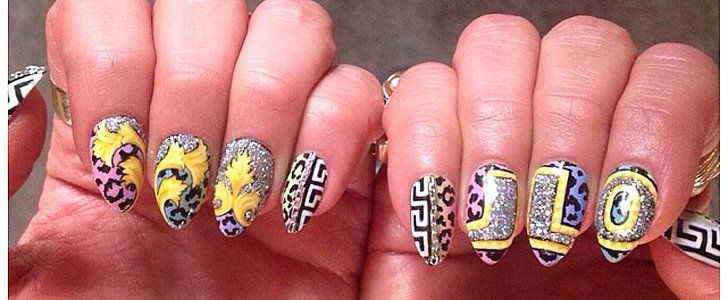 "Get a Close-Up Look at Jennifer Lopez's ""I Luh Ya Papi"" Nail Art"