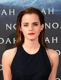 Emma Watson in a black dress at Berlin premiere of Noah