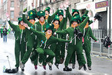 Grab some green onesies, and dress as a group of leprechauns.
