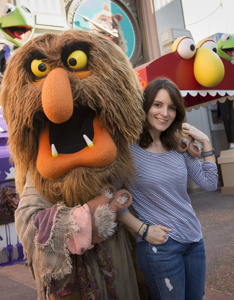 Tina Fey cuddled up to Sweetums during her Sunday fun day at Walt Disney World.