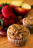 Banana Strawberry Apple Grape Muffins