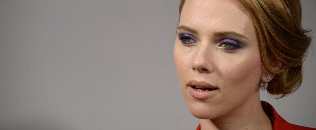Scarlett Johansson Smolders in Dreamy Purple Eye Shadow