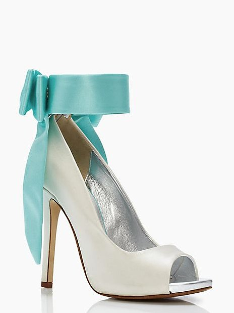 Kate Spade New York Grande Bow Blue Ankle-Tie Heels ($229, originally $598)