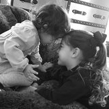 Adriana Lima captured an adorable moment between her two girls. Source: Instagram user adrianalima