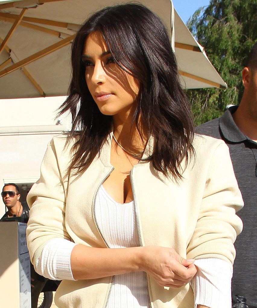 Kim Kardashian New Hair Style Popsugar
