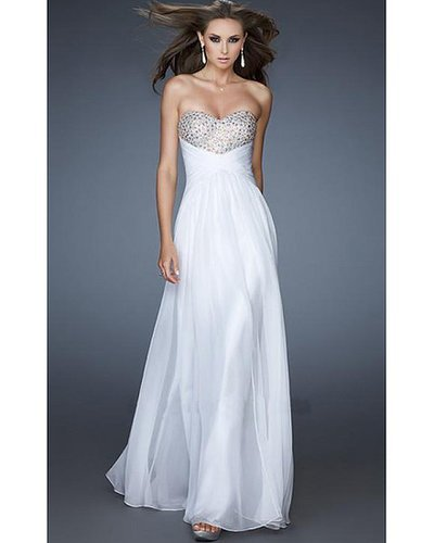 2014 White Prom Dress by La Femme 18304