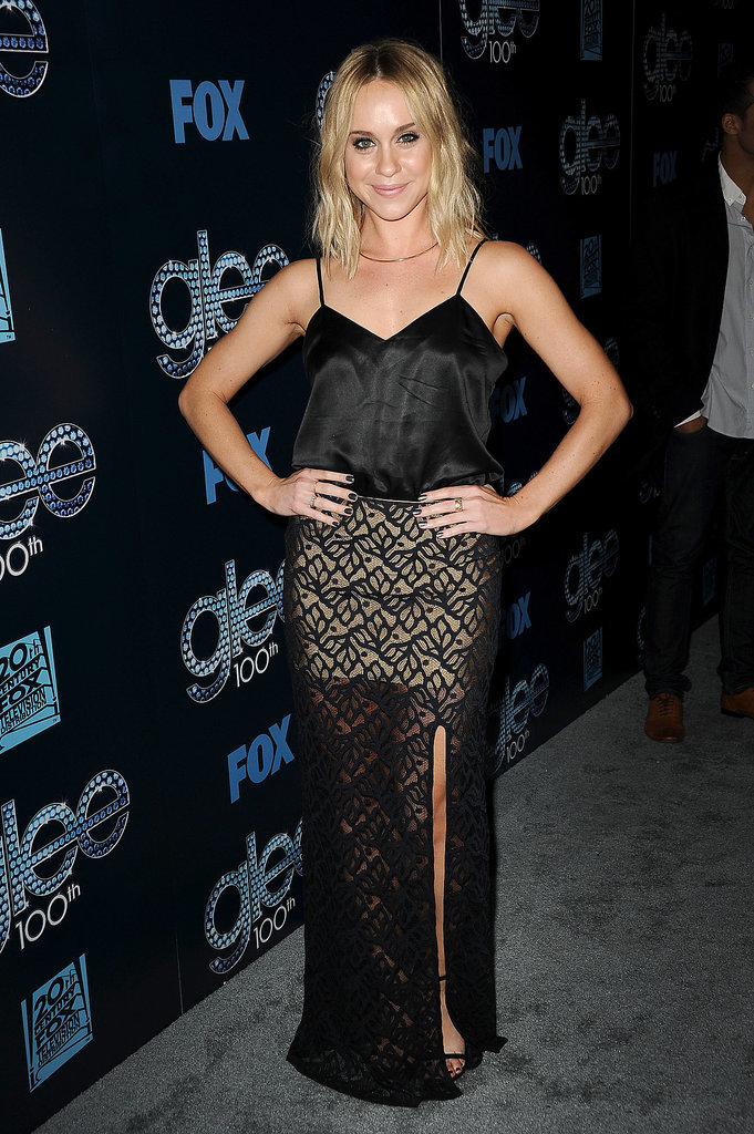 Becca Tobin showed some leg.