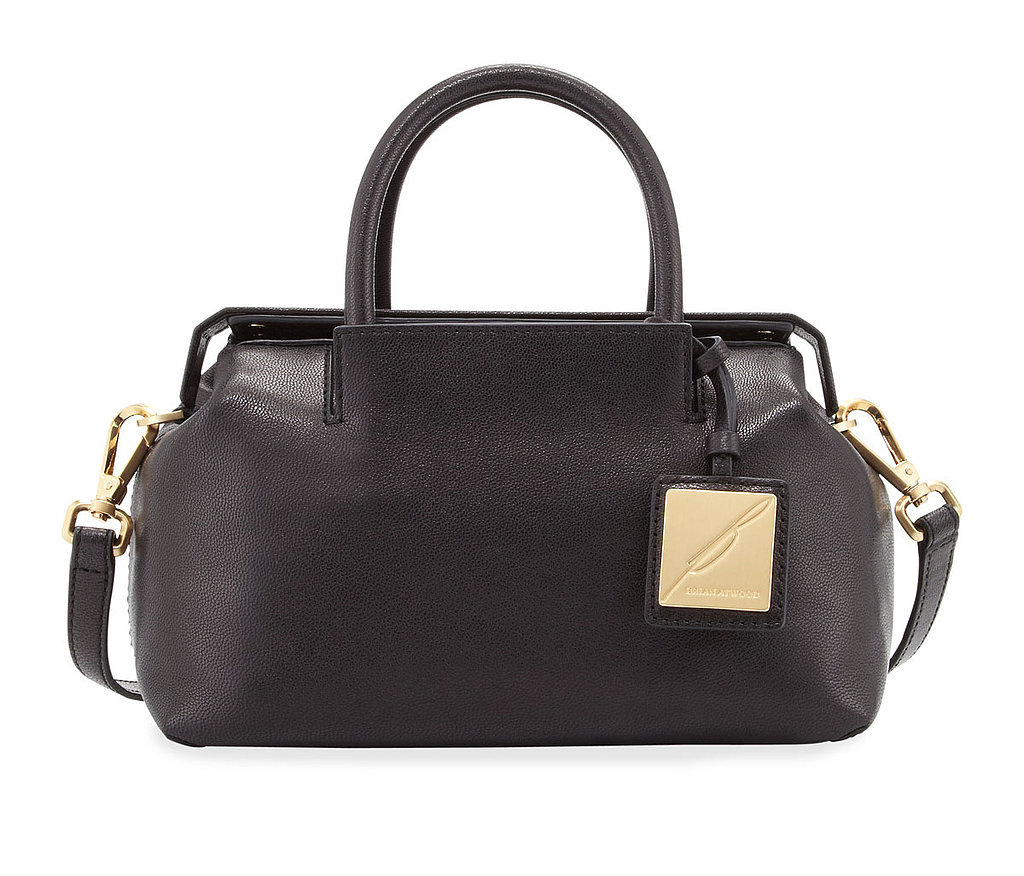 B Brian Atwood Sandra mini black leather satchel ($325)