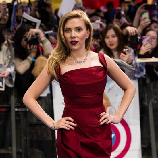 Pregnant Scarlett Johansson At Captain America Premiere