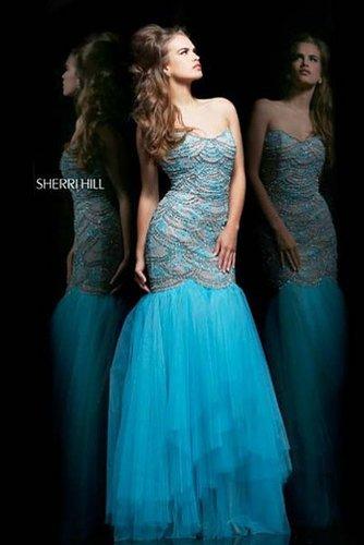 Sherri Hill 11080 Prom Dress Mermaid Blue