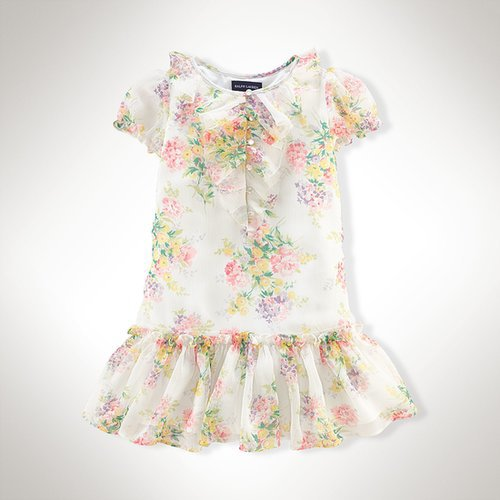 Ralph Lauren Ruffled Floral Chiffon Dress
