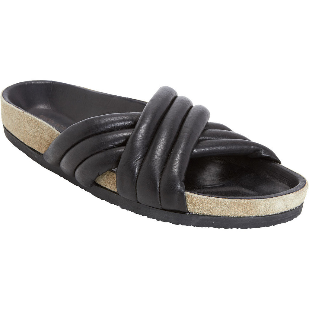 Isabel Marant black Holden pool slides ($510)