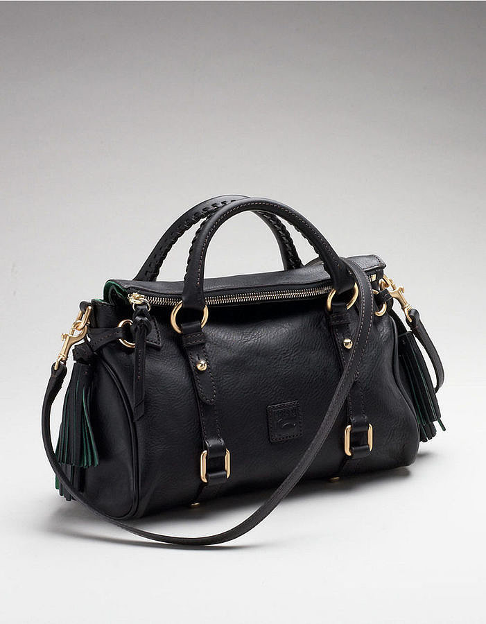 Dooney & Bourke Florentine black leather satchel ($318)