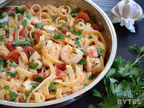 Spicy Shrimp and Tomato Pasta