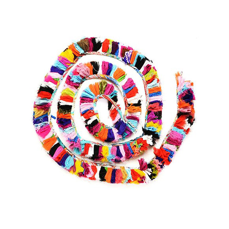 Perfect for a celebration or everyday decor, rainbow fringe garland ($22) will dress up any niche.