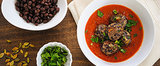 "Savory Sight: Black Bean ""Meatballs"" With Marinara Sauce"