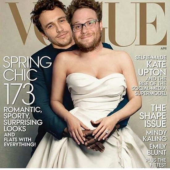 James Franco, Seth Rogen Recreate Kim And Kanye Vogue Cover