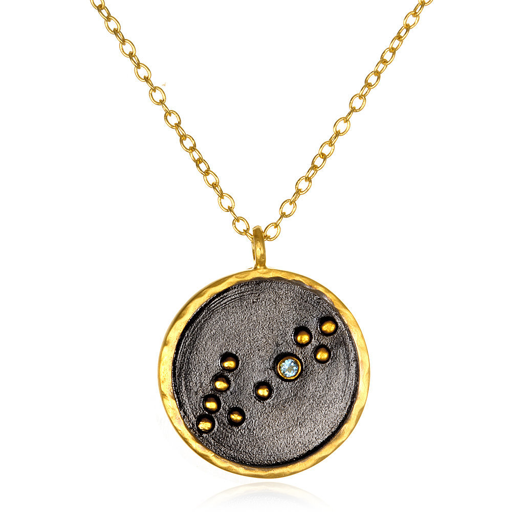Satya Jewelry Pisces Zodiac Necklace ($98)