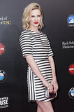 January Jones looked gorgeous in stripes.