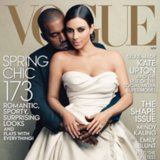 Kim Kardashian, Kanye West & Giant Hashtag Cover US Vogue