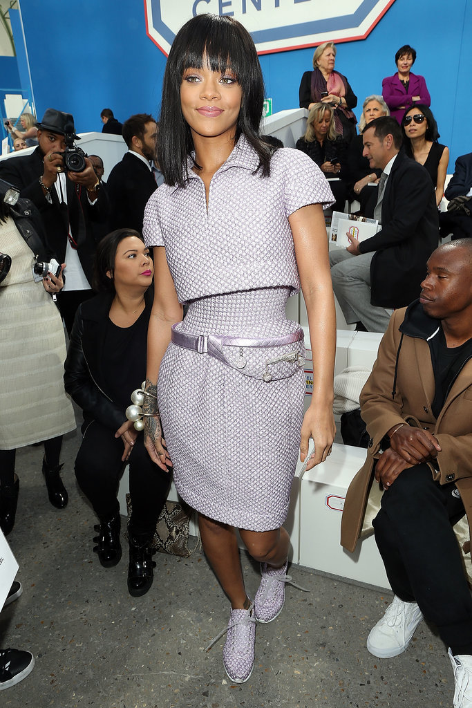 This past Paris Fashion Week provided a whole lot of opportunities for Rihanna to dazzle us, style-wise. For the Chanel show, she decked herself out in couture from the house — fanny pack included.