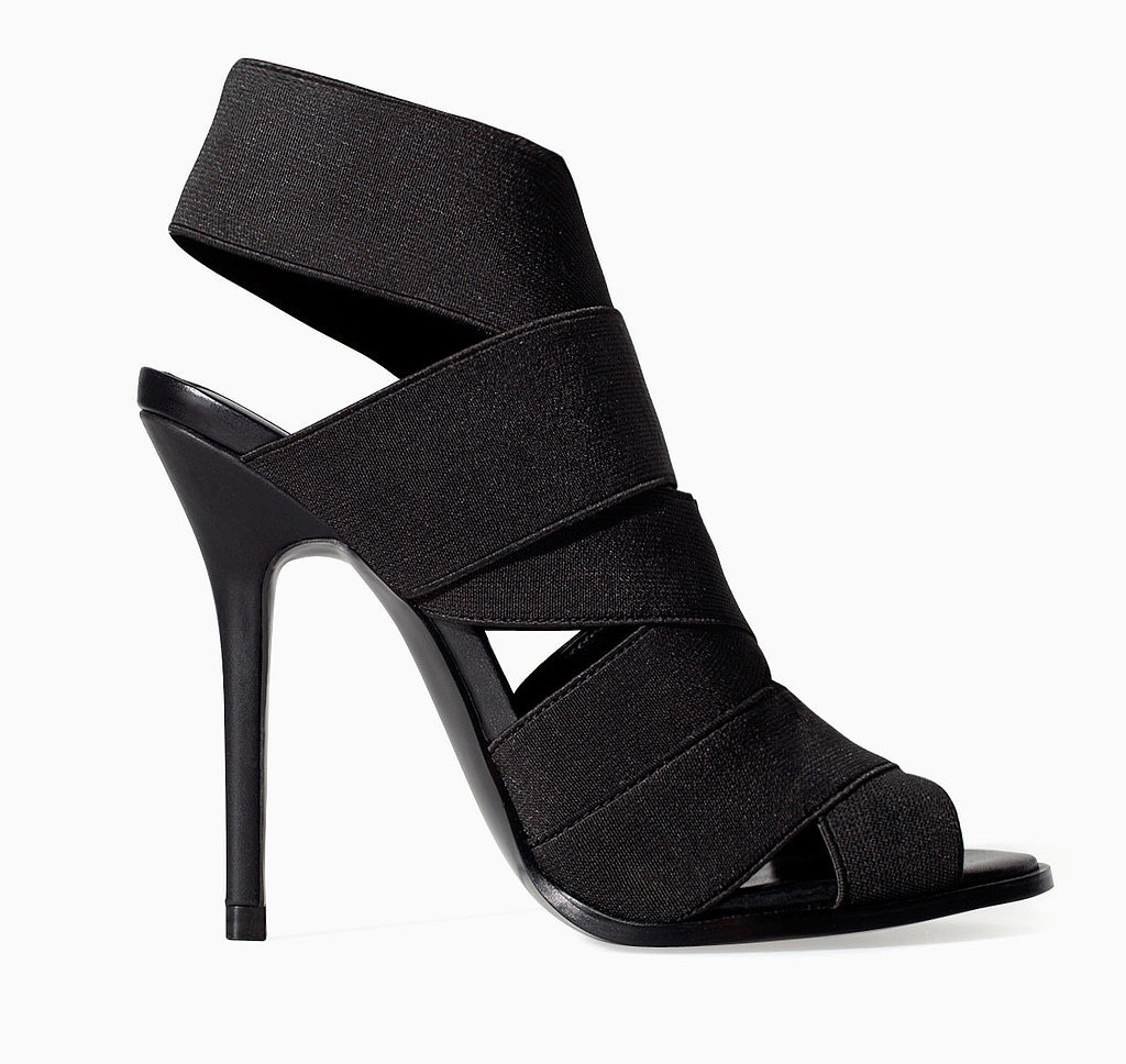 Zara black elastic band high heels ($100)
