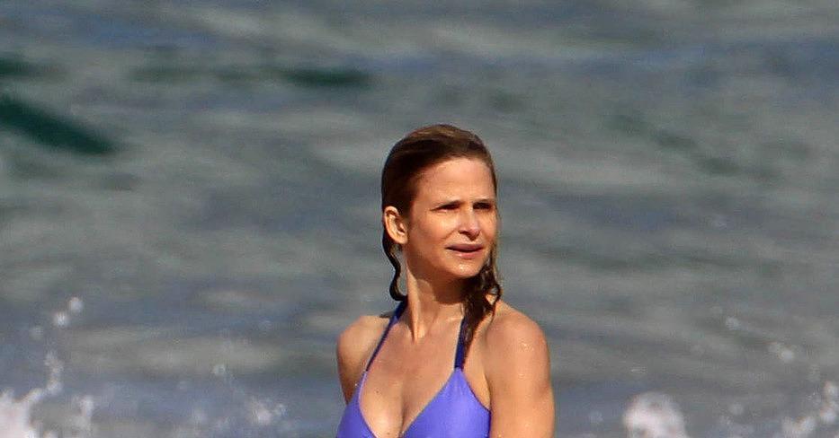 kyra sedgwick showed off her tight toned bikini body