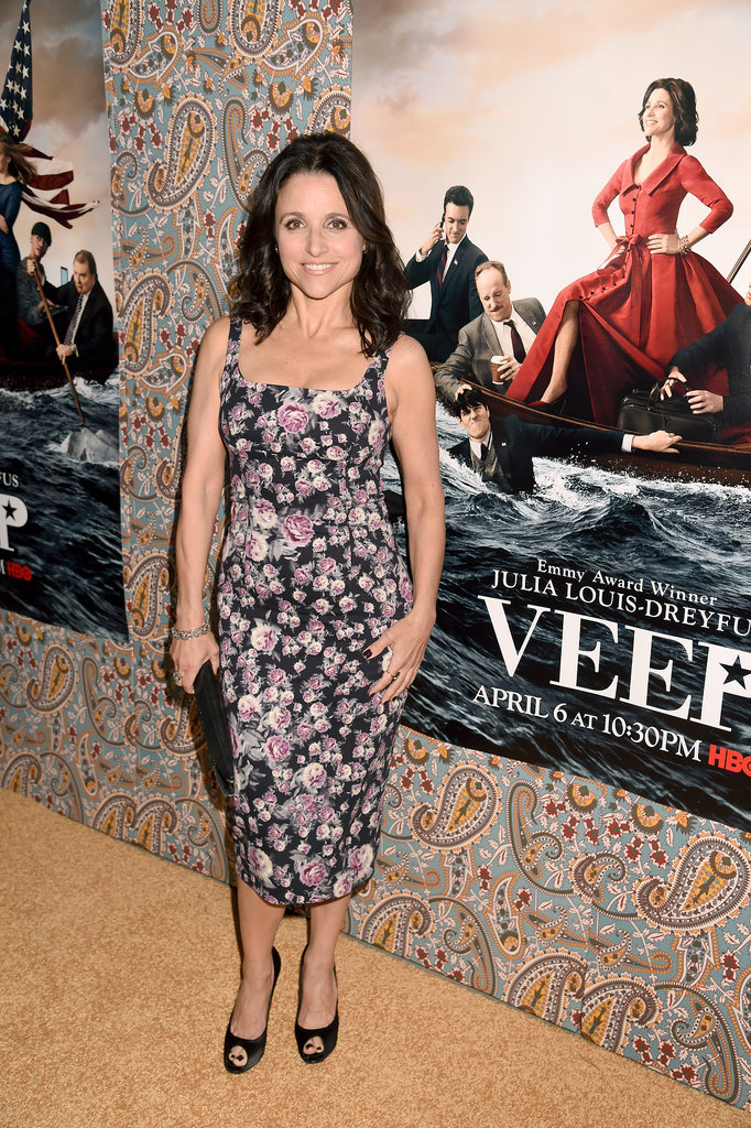 Julia Louis-Dreyfus premiered Veep's third season in LA on Monday.