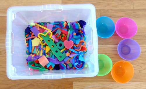 Crazy-Color Sensory Bin