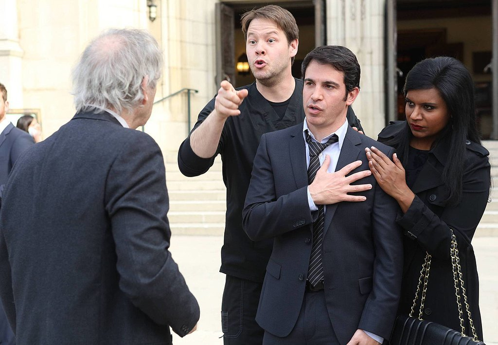 Morgan (Ike Barinholtz) turns up at the funeral.