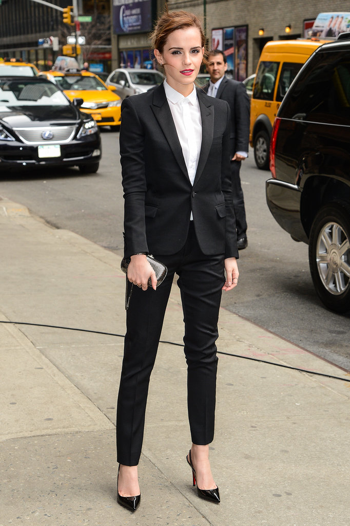 Emma Watson in a Saint Laurent Suit