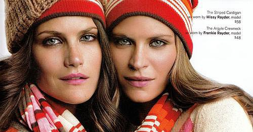 Rayder Sisters, Lily Donaldson, Anja Rubik, and Erin Wasson Fall Into the Holiday Gap