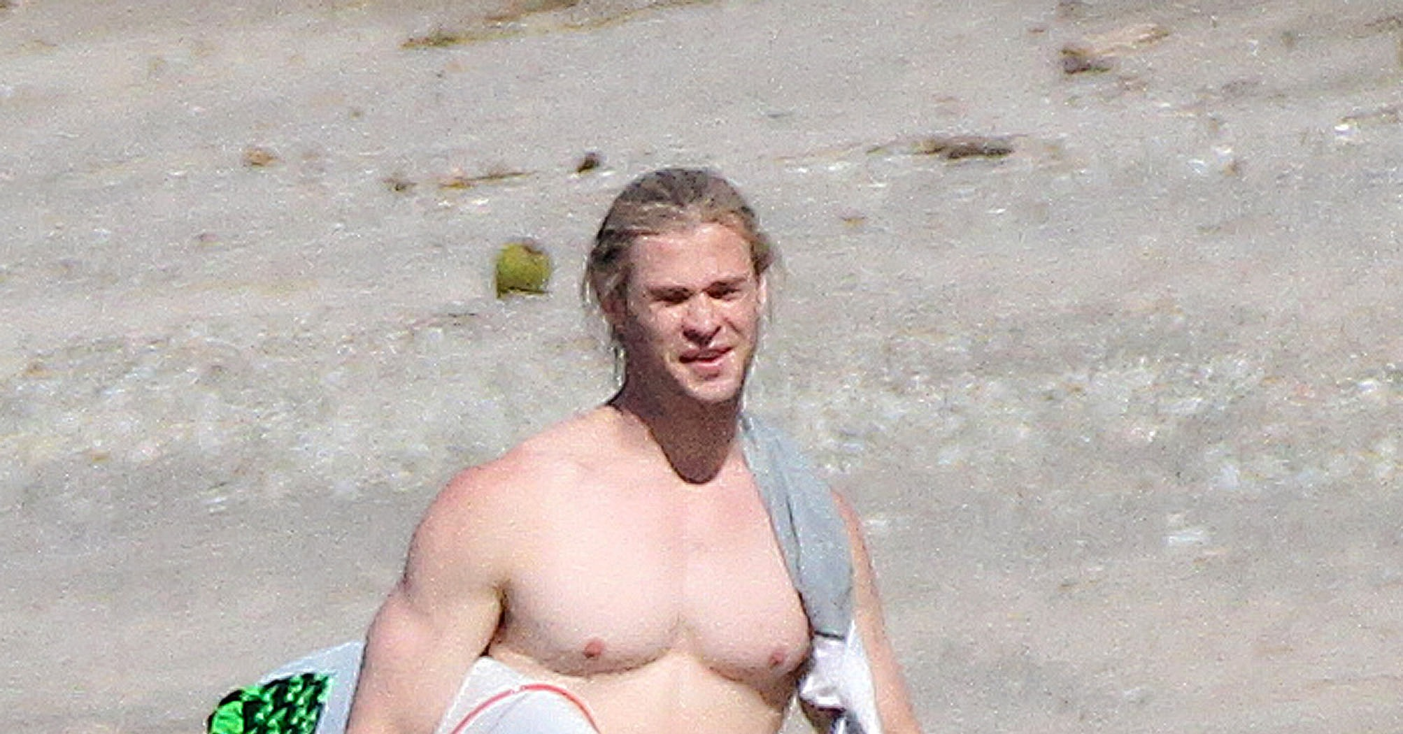 Shirtless Chris Hemswo...