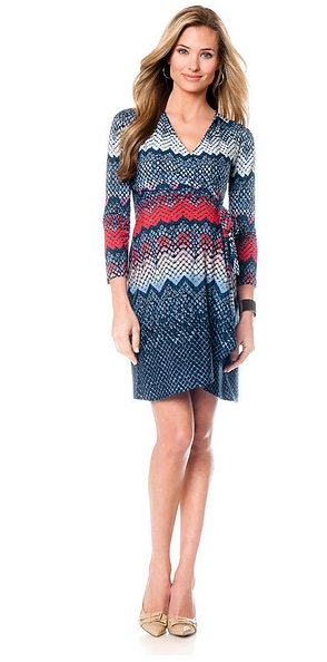 BCBG Max Azria 3/4 Sleeve Wrap Maternity Dress