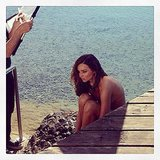 Miranda Kerr gave us a sneak peek at her photo shoot. Source: Instagram user mirandakerr