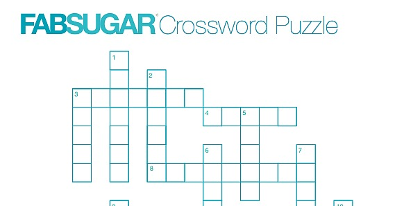 Fabsugar Fashion Crossword Puzzle Popsugar Fashion